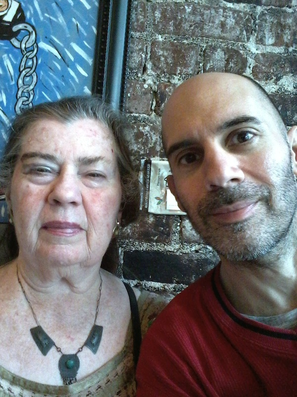 Mrs Walley and son Reid Walley at Weatherstone coffee
