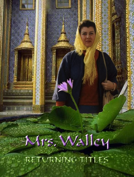 "Mrs Walley ""Returning Titles"" cassette cover"